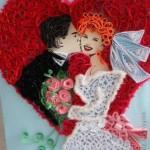 Сватба с квилинг