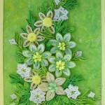 Пролетна картичка от квилинг