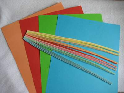 Цветна хартия от квилинг