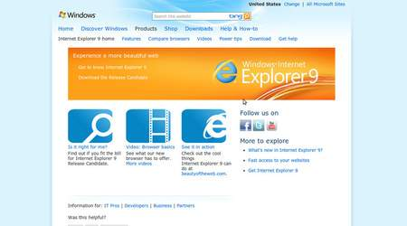 MS Internet Explorer 9