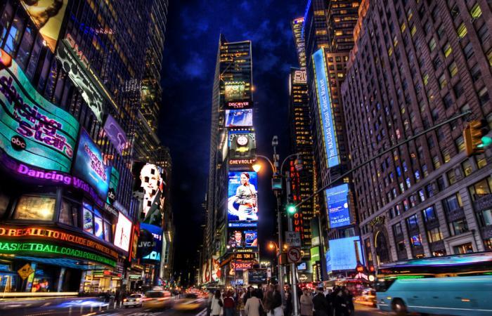 Рекламата в центъра на New York.