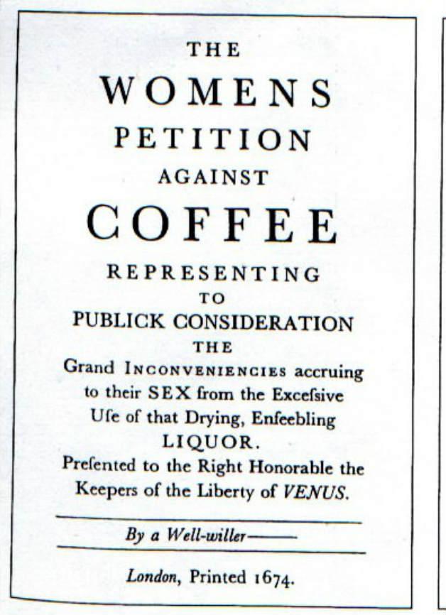 Женската петиция против кафето
