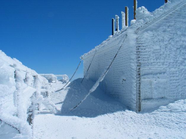 Върхът в планината Вашингтон през зимата