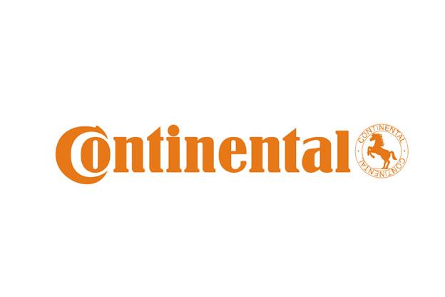 Скрит символ на гума в логото на Continental
