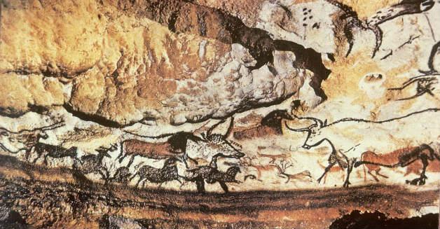 Рисунки в пещера от новокаменната епоха или неолита